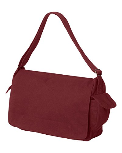 Tenacitee Born in 1935 - Aged Like a Fine Wine Maroon Brushed Canvas Messenger Bag by Tenacitee (Image #1)