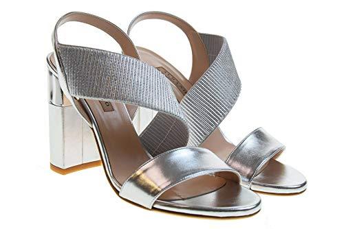 2202 Bsaxqu Zapatos Plata Alto Sandalias Mujer Tacón Albano De Y6gyb7Ifv