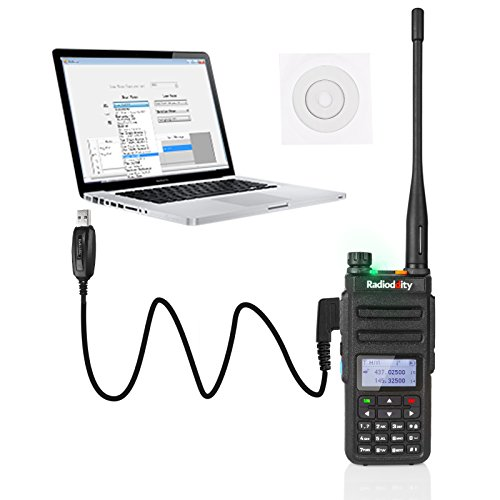 Radioddity GD-77 Dual Band Dual Time Slot DMR Digital/Analog Two Way Radio 136-174/400-470MHz 1024 Channels Ham Amateur Radio Compatible with MOTOTRBO, Free Programming Cable by Radioddity (Image #7)