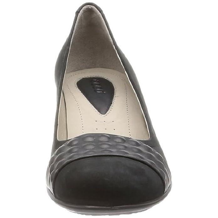 Ecco Touch 50 Black Velvet whisper Scarpe Col Tacco Con Cinturino A T Donna