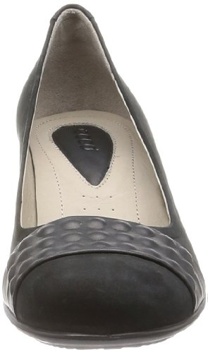 Ecco Touch 50 Black/Black Velvet/Whisper - Zapatos destalonados de cuero mujer negro - Schwarz (BLACK/BLACK 53960)