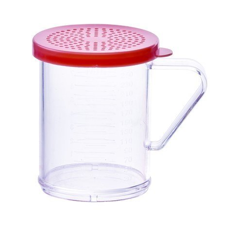 Rose Sugar Lid - Winco PDG-10R, 10 Oz Plastic Dredge with Rose Snap-on Lid, Seasoning Sugar Spice Pepper Shaker