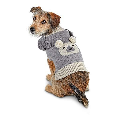 - Bond & Co. Pom-Pom Polar Bear Dog Sweater, XX-Small