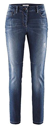 Indigo stonewashed Jeans Attillata Stehmann Donna Ivta7qUn