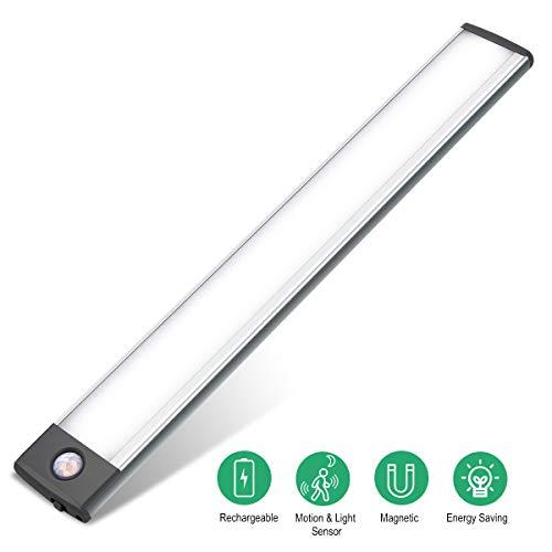 Led Closet Light, Motion Sensor Under Cabinet Lighting.Built-in Light Guide Panel Provide Soft no Glare Light. Fits Well in Closet, Under Cabinet, Wardrobe, or Anywhere Dark