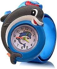 Kids Slap Watch, lesgos Fashion Animal Silicone Slap Snap On Wrist Watch Analog Time Teacher, Gift for Girls B
