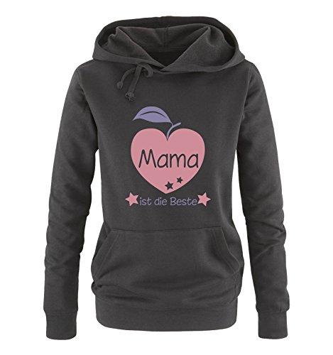 Rosa Comedy Lunga Cappuccio Schwarz Shirts Donna violett Manica Felpa Con vq8SBv