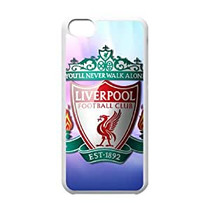 iPhone 5c Cell Phone Case White Liverpool Logo KAN Hard Cell Phone Case For Girls