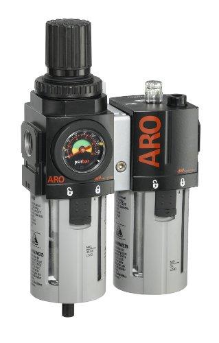 "ARO C38341-600-VS Air Filter-Regulator-Lubricator Combination, 1/2"" NPT"