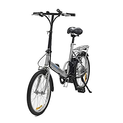 """SmartGyro Ebike Milos - Bicicleta Eléctrica de paseo, Ruedas de 20"""", Asistente al"""