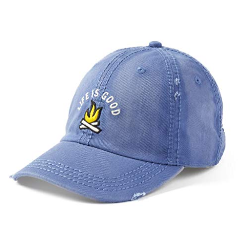 Life is Good Campfire Sunwashed Chill Cap - Vintage Blue | Adjustable