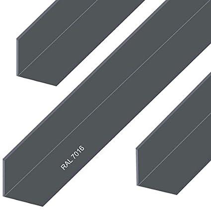 Aluminium Winkel Aluwinkel Walzblankes Aluprofil Winkelprofil Pulverbeschichtet 30x30x2mm 500mm Wei/ß RAL9016