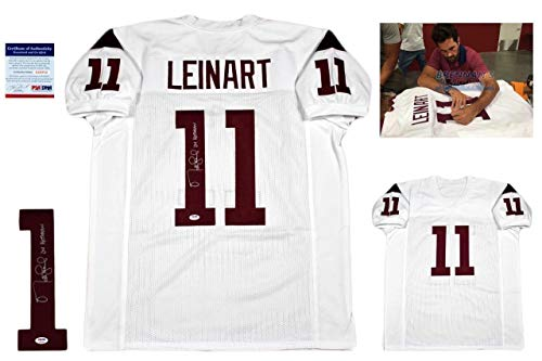 (Matt Leinart Autographed Signed Jersey - PSA/DNA Authentic With Photo - White - Certified Authentic)
