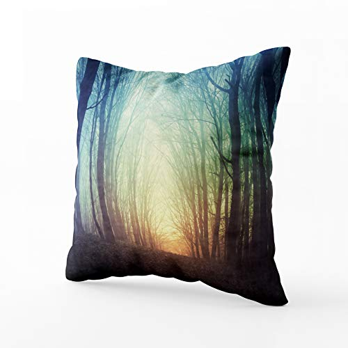 HerysTa Kid Pillow Case, Home Throw Pillow Case 20X20inch Invisible Zipper Cushion Cases Mysterious Fest Fog Square Sofa Bed Décor
