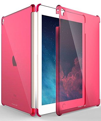 iPad Pro 9.7 Case, Fosmon slim [Transparent Pink] Hard Smart Cover Companion Case for Apple iPad Air 2 2014 / iPad Pro 9.7 inch (Ipad 2 Fosmon Case)