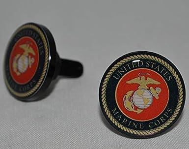 Motorcycle Tag Screws 4 Custom Black Marines USMC License Plate Frame Bolts