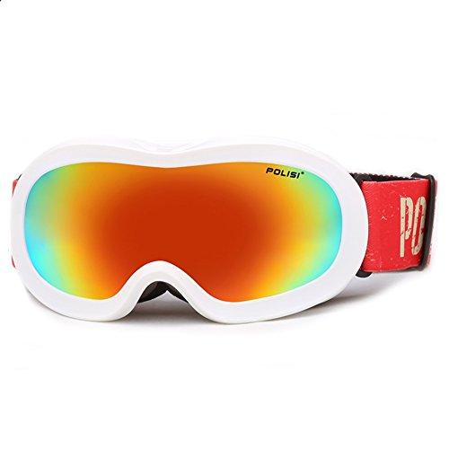 SE7VEN Masques De Ski Enfants,Anti Brouillard Lentille Double Couche Leçon De Ski Réglable Snowboard Goggles N