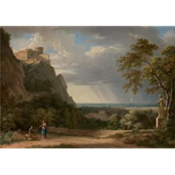 The Perfect Effect Canvas Of Oil Painting 'Classical Landscape With Figures And Sculpture, 1788 By Pierre-Henri De Valenciennes' ,size: 30x43 Inch / 76x109 Cm ,this Amazing Art Decorative Canvas Prints Is Fit For Kitchen Artwork And Home Decoration And