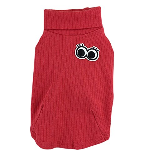 e Pet Dog Turtleneck Sweater Jumpsuit T-shirt Clothes Apparel for Small Dog Red S (Big Turtle)