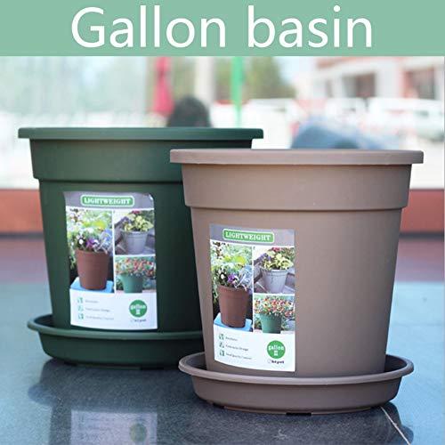 Hankyky Resin Plastic Planter Pot, Balcony Vegetables Bonsai Flower Seedlings Nursery Pot, Garden Plant Pot Home Decoration,