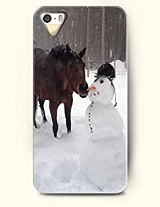 OOFIT iPhone 5 5s Case - Horse And Snowman