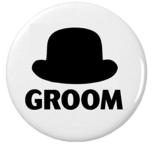 "Groom Top Hat (Groom Top Hat 1.25"" Pinback Button Pin Wedding Bachelor Party)"