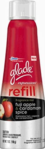 glade Expressions Fragrance Mist Refill, Fuji Apple and Cardamom Spice, 7 Ounce (Pack of 6) (Italian Air Freshener)