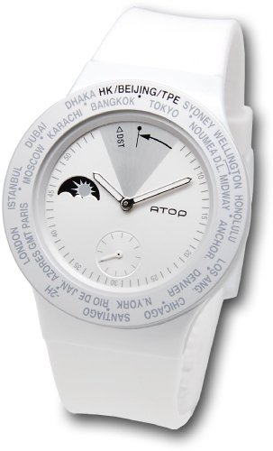 ATOP World Time Watch, VWA-10, All White