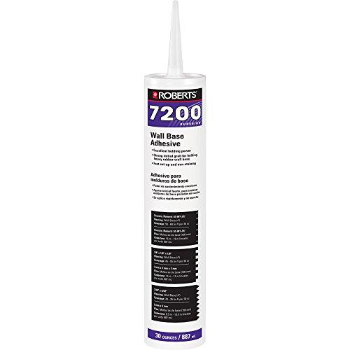 Cove Base Adhesive - Roberts 7200-30C Cove Adhesive for Adhering Vinyl, Rubber & Carpet Wall Base, 30oz