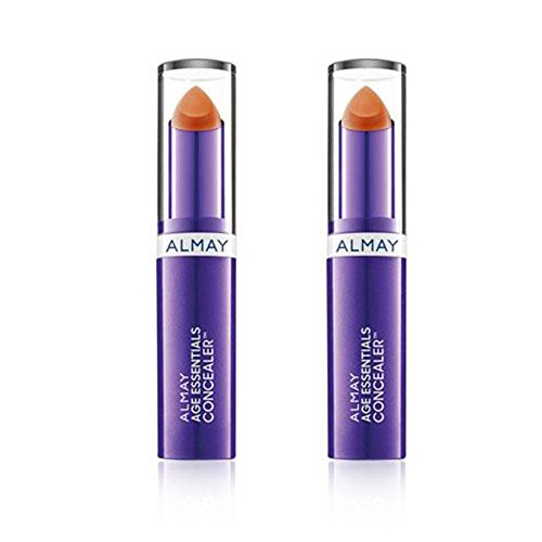 Almay Age Essentials Concealer, 400 Medium/Deep (Pack of 2), Conceals Age Spots and Under-Eye Circles For Anti-Aging Effects, SPF 20, 0.13 oz.