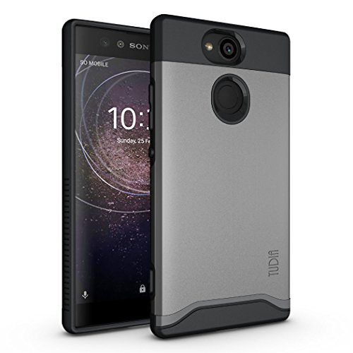 Sony Xperia XA2 Case, TUDIA Slim-Fit Heavy Duty [Merge] Extreme Protection/Rugged but Slim Dual Layer Case for Sony Xperia XA2 (Metallic Slate) (Sony Xperia Cell Phone Case)