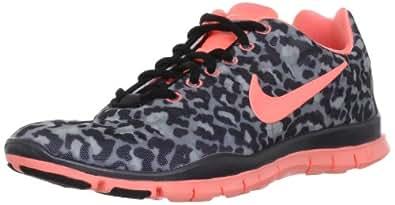 Nike Women's Wmns Free TR Fit 3 PRT, STEALTH /ATOMIC PINK -MTLC HMTT-BLACK, 9.5 M US