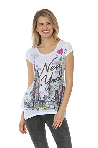 Womens NYC Sketch collage Short Sleeve Tunic - Ave Nyc Broadway