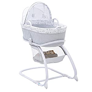 Delta Children Deluxe Moses Bassinet, Elephant Dreams