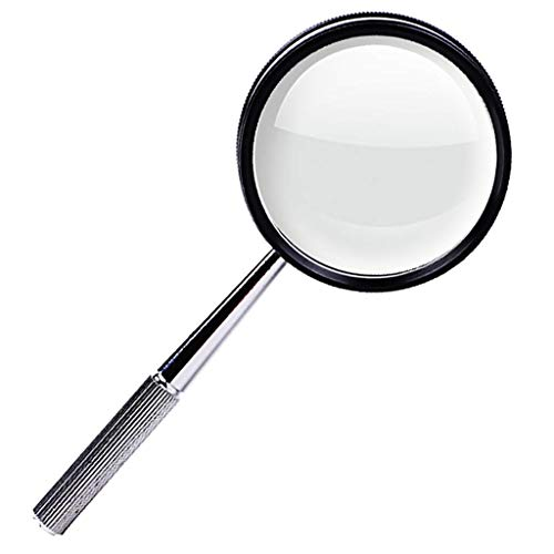 Magnifier Reading Definition High - Lil 30X High-Definition Handheld Magnifying Glass, Metal Frame Be Applicable The Elderly Reading Jewelry Identification Maintenance
