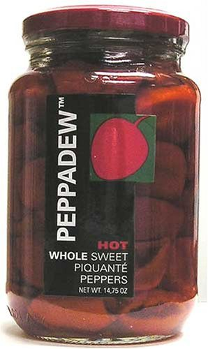 Peppadew Hot Whole Sweet Piquante Peppers, 14-Ounce Glass Jars (Pack of 6) by Peppadew (Image #1)