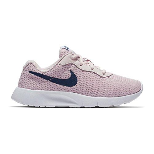 NIKE Girl's Tanjun Shoe Barely Rose/Navy/White Size 12 Kids US