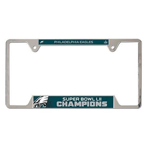Philadelphia Eagles WinCraft Super Bowl LII Champions Metal License Plate Frame (Super Bowl Frame)