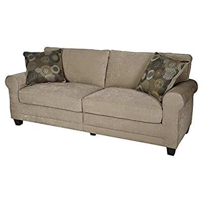"Serta® RTA Copenhagen Collection 72"" Sofa in Marzipan, CR43536PB"