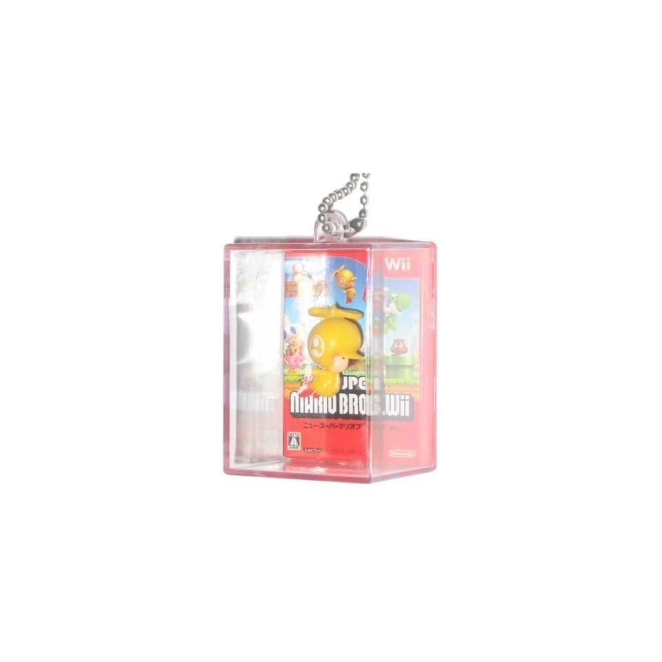 Nintendo Super Mario Bros. Figure In Box Yellow Toad Keychain