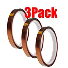 (3 Pack) - 10mm 100ft BGA High Temperature Heat Resistant Polyimide Gold Tape