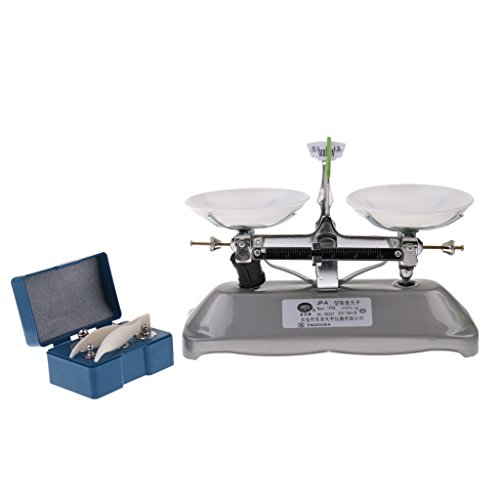 MonkeyJack 100 Gram Table Balance Scale with 5g, 10g, 20g, 50g Weights School Physics Teaching Tool Lab Supplies -