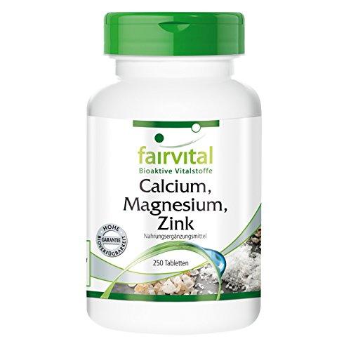 Calcium Magnesium Zink - chelat, bioverfügbar - 250 Tabletten, vegetarisch