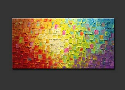 Amazon.com: Seekland Art Hand Painted Texture Oil Painting on Canvas ...