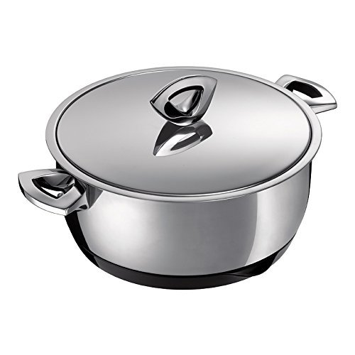 Kuhn Rikon Durotherm Swiss-Made Cookware, Braiser with Lid, 9-Inch - 2.5QT