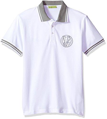 Versace Jeans Men's Basic Logo Polo, Bianco Ottico, 48