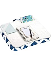 LapGear Designer Lap Desk with Phone Holder and Device Ledge - Navy Ikat - Fits up to 15.6 Inch Laptops - Style No. 45423