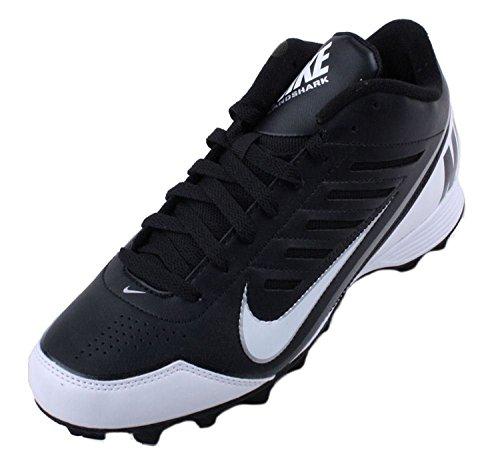 Nike Mens Land Shark 3/4 Football Cleat Black/White Size 10.5 US, Noir/blanc, 44.5 D(M) EU/9.5 D(M) UK