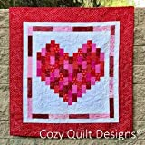 Pattern~I Heart You~2 1/2in Strips Cozy Quilt