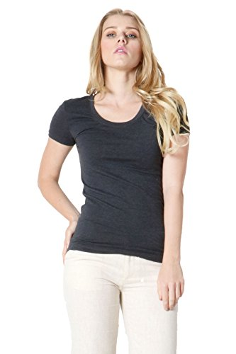 - Zenana Basic Scoop Neck Longline Tee,Small,Charcoal